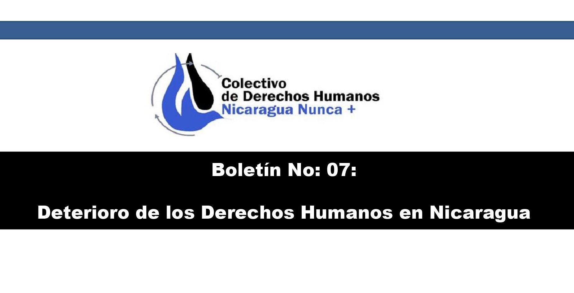 Boletín Derechos Humanos Nicaragua