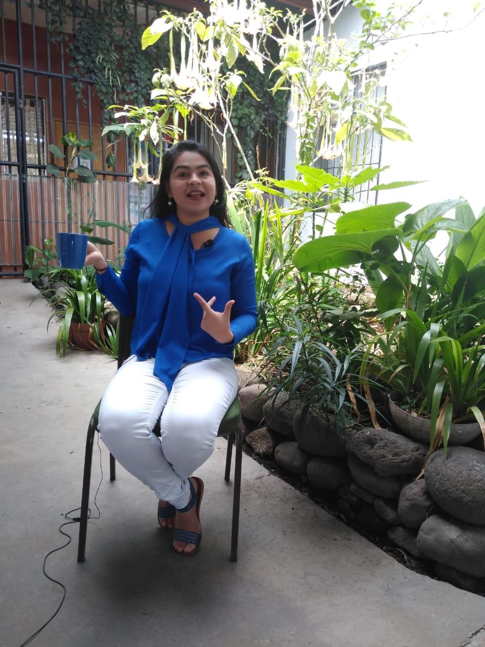 Leticia Gaitán Hernández periodista en el exilio