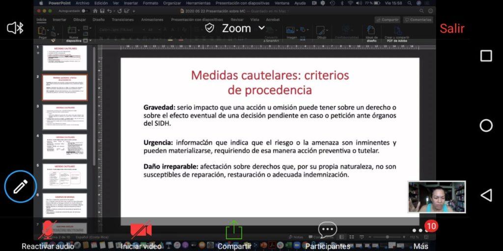 Medidas cautelares webinar Colectivo y Cidh