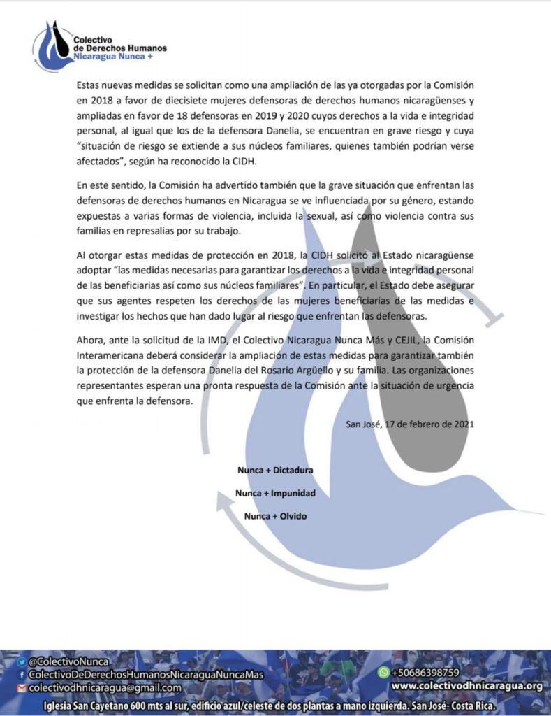 Pronunciamiento2 Danelia del Rosario Argüello Cano